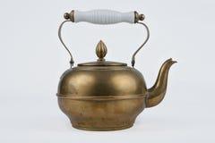 Pote viejo y antiguo del café del cobre del vintage Imagen de archivo libre de regalías