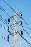 Poteau à haute tension électrique Image libre de droits