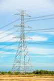 Poteau électrique Photo libre de droits