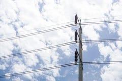 Poteau électrique Photos libres de droits