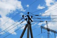 Poteau électrique images libres de droits