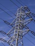 poteau électrique de la ligne de tension photo stock