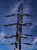 poteau électrique de la ligne de tension photos libres de droits