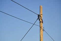 Poteau électrique en bois Image stock