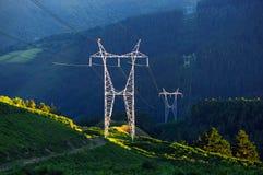 Poteau électrique en nature photographie stock libre de droits