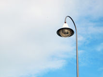 Poteau d'éclairage public extérieur Images libres de droits