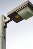 poteau d'isolement d'éclairage de lampe Image stock
