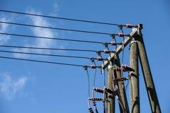 Poteau de câble électrique Photos libres de droits