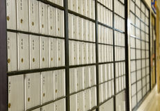 poteau de caisse photographie stock libre de droits