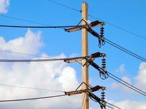 Poteau de l'électricité Photos libres de droits