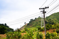 Poteau de l'électricité Image stock