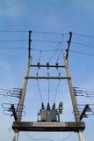 Poteau de l'électricité Photo libre de droits