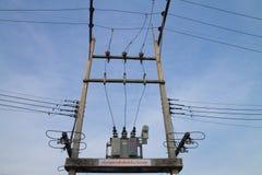 Poteau de l'électricité Images libres de droits