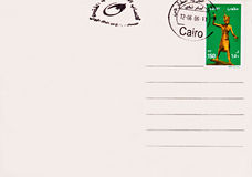 poteau de l'Egypte de carte vierge photographie stock libre de droits