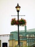 Poteau de lampe de Mont Tremblant Photos libres de droits