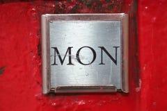 Poteau de lundi Photos libres de droits