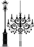 Poteau de lustre et de lampe Image libre de droits