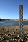 Poteau de mesure de marais de Bacchus Photo libre de droits