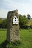 Poteau de mille de voie de Cotswold Photo libre de droits
