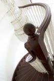 Poteau de Newel et escalier spiralé images stock