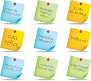 poteau de notes Photo stock
