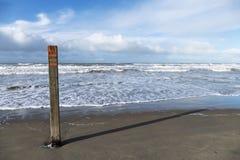 Poteau de plage Photographie stock