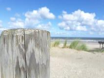 Poteau de plage Images libres de droits
