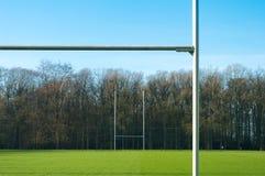 Poteau de rugby Photographie stock libre de droits