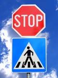 Poteau de signalisation images libres de droits