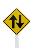 Poteau de signalisation bi-directionnel Photographie stock