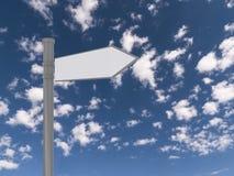 Poteau de signalisation blanc Photographie stock