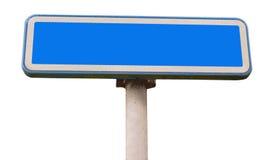 Poteau de signalisation bleu Images libres de droits
