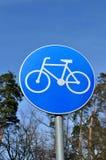 Poteau de signalisation (chemin de bicyclette) Photo libre de droits