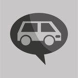 Poteau de signalisation concept icon van car Image stock
