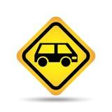 Poteau de signalisation concept icon van car Illustration de Vecteur
