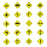 Poteau de signalisation d'avertissement Image libre de droits