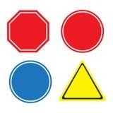 Poteau de signalisation d'avertissement Photographie stock