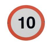 Poteau de signalisation de limitation de vitesse Images libres de droits