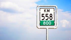 Poteau de signalisation de péage de route photos stock