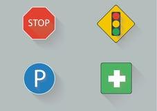 Poteau de signalisation plat Image libre de droits
