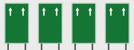 poteau de signalisation de vert de symbole, signes de panneau de route d'isolement sur le fond transparent Écran protecteur illustration de vecteur