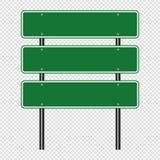 poteau de signalisation de vert de symbole, signes de panneau de route d'isolement sur le fond transparent Écran protecteur illustration libre de droits