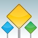 Poteau de signalisation vide, facile d'éditer l'image illustration stock
