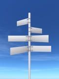 Poteau de signe Photo libre de droits