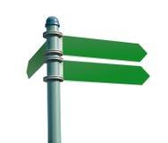 Poteau de signe blanc de rue Photo stock