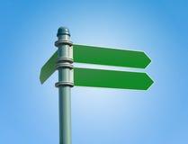 Poteau de signe blanc de rue avec 3 signes Image stock