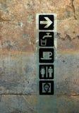 Poteau de signe dans Persepolis, Iran Images libres de droits