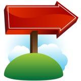 Poteau de signe de flèche Photo stock