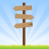 Poteau de signe de route illustration de vecteur