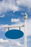 Poteau de signe de vinyle 2 (pièce pour votre texte) Images libres de droits